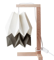 CANDEEIRO DE MESA ORIGAMI 2 CORES-candeeiros-Light & Store-Polar White + Alpine Grey-Branco-Light & Store