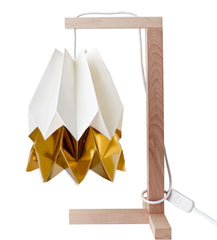 CANDEEIRO DE MESA ORIGAMI 2 CORES-candeeiros-Light & Store-Polar White + Warm Gold-Branco-Light & Store