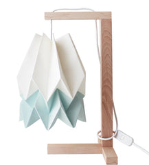 CANDEEIRO DE MESA ORIGAMI 2 CORES-candeeiros-Light & Store-Polar White + Mint Blue-Branco-Light & Store