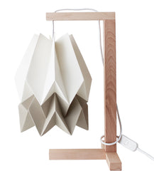 CANDEEIRO DE MESA ORIGAMI 2 CORES-candeeiros-Light & Store-Polar White + Light Taupe-Branco-Light & Store