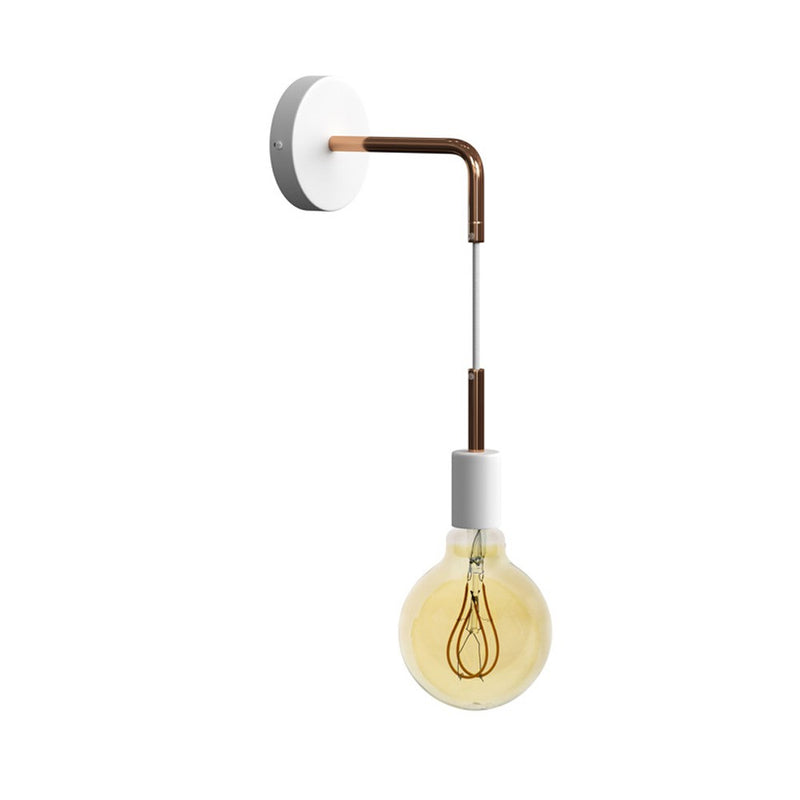Fermaluce Glam metal wall light with bent extension and pendant lamp holder