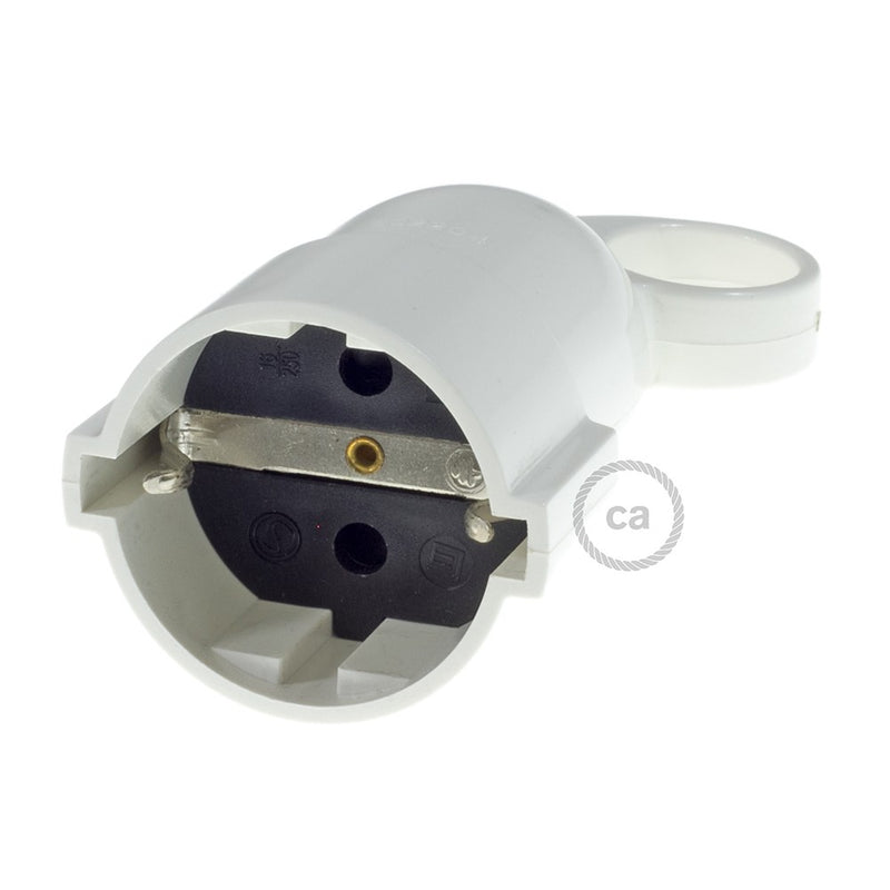 Schuko comfort 16A 250V White socket with ring