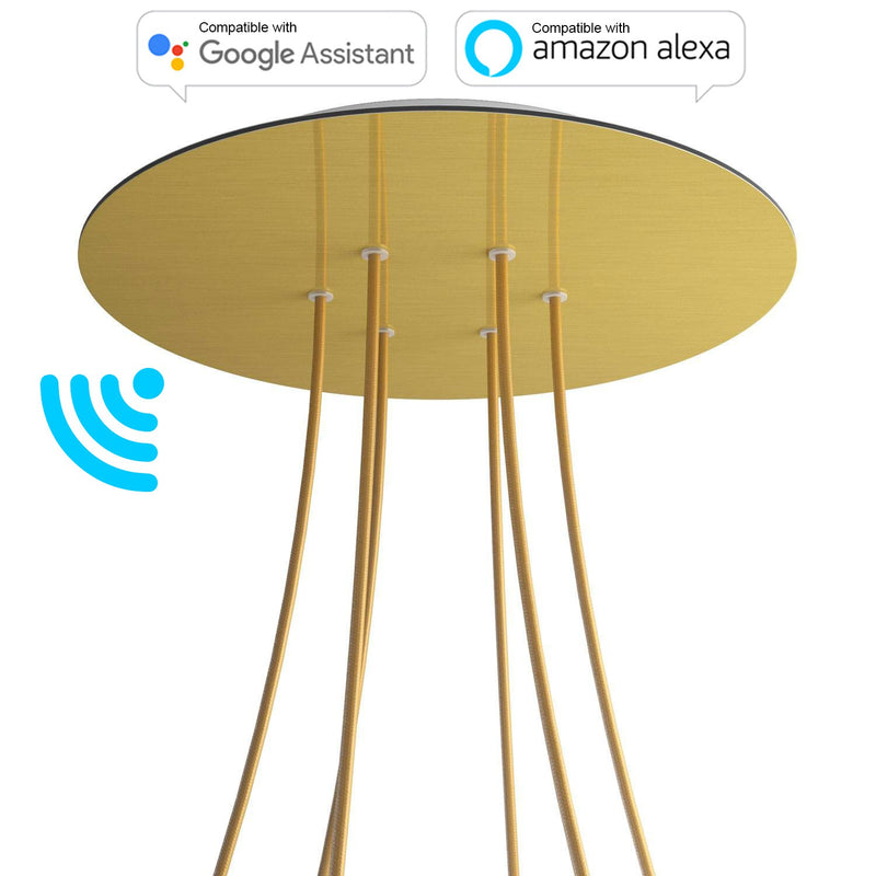 Large Round Smart ceiling rose, 400 mm Cover Rose-One with 6 holes - compatible with voice assistants
