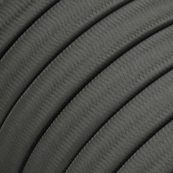 Electric cable for String Lights, covered by Rayon fabric Grey CM03