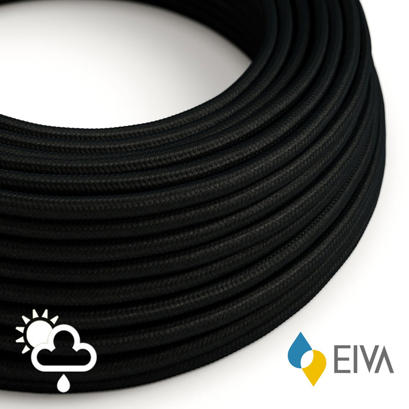 Outdoor round electric cable covered in Black Rayon SM04 -suitable for IP65 EIVA system