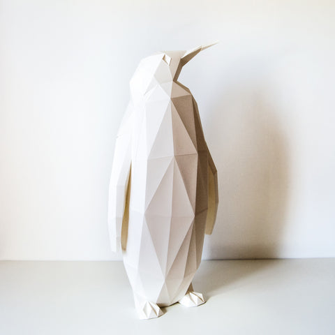 Emperor Penguin - DIY White Paperlamp