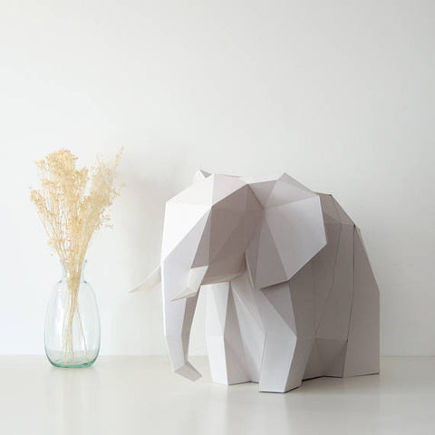 Big Elephant - DIY Colour Paperlamp-Candeeiros-Light & Store-Cotton White-Light & Store