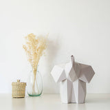Baby Elephant - DIY Colour Paperlamp-Candeeiros-Light & Store-Light Grey-Light & Store
