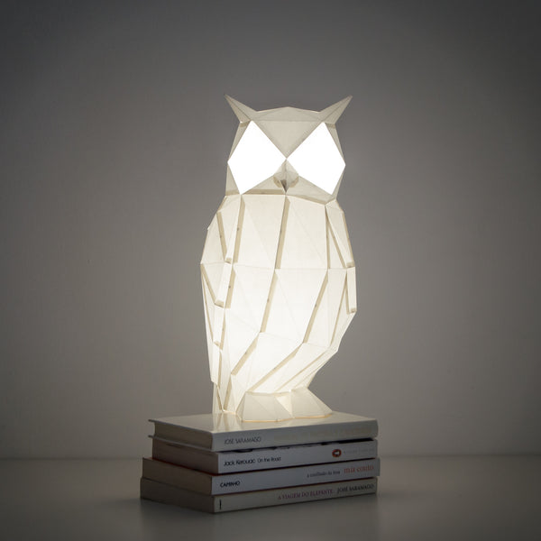 Night Owl - DIY White Paperlamp-Candeeiros-Light & Store-Light & Store