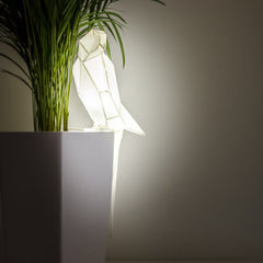 Parrot - DIY White Paperlamp-Candeeiros-Light & Store-Light & Store