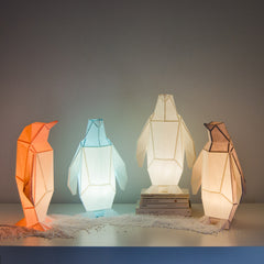 Small Penguin - DIY Colour Paperlamp-Candeeiros-Light & Store-Light & Store