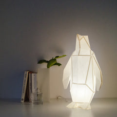 Small Penguin - DIY White Paperlamp-Candeeiros-Light & Store-Light & Store