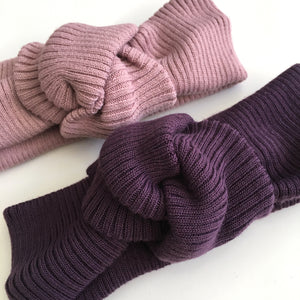 Plum Textured Cotton Twist Knot (bottom)
