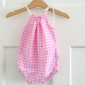 Candy Gingham Tie-Side Playsuit
