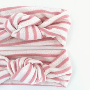 Strawberries & Cream Knit Twist Knot