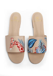 Alepel Shoes Alepel | Nude Slide in Giraffe Royal