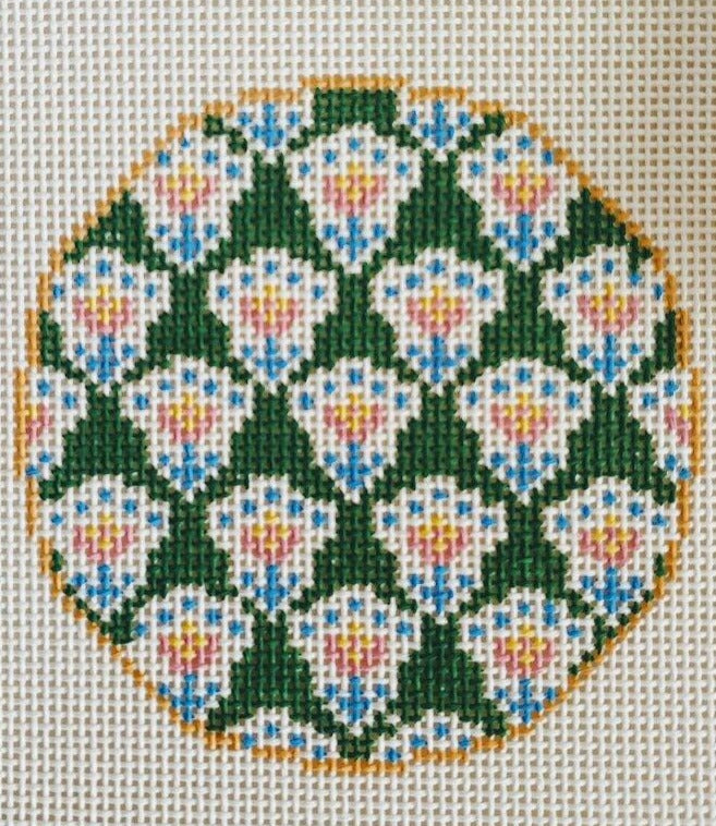 Anne Fisher Needlepoint Anne Fisher Needlepoint | Green Provence Insert