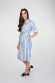 Beau & Ro Apparel The Every Dress | Blue + White Stripe