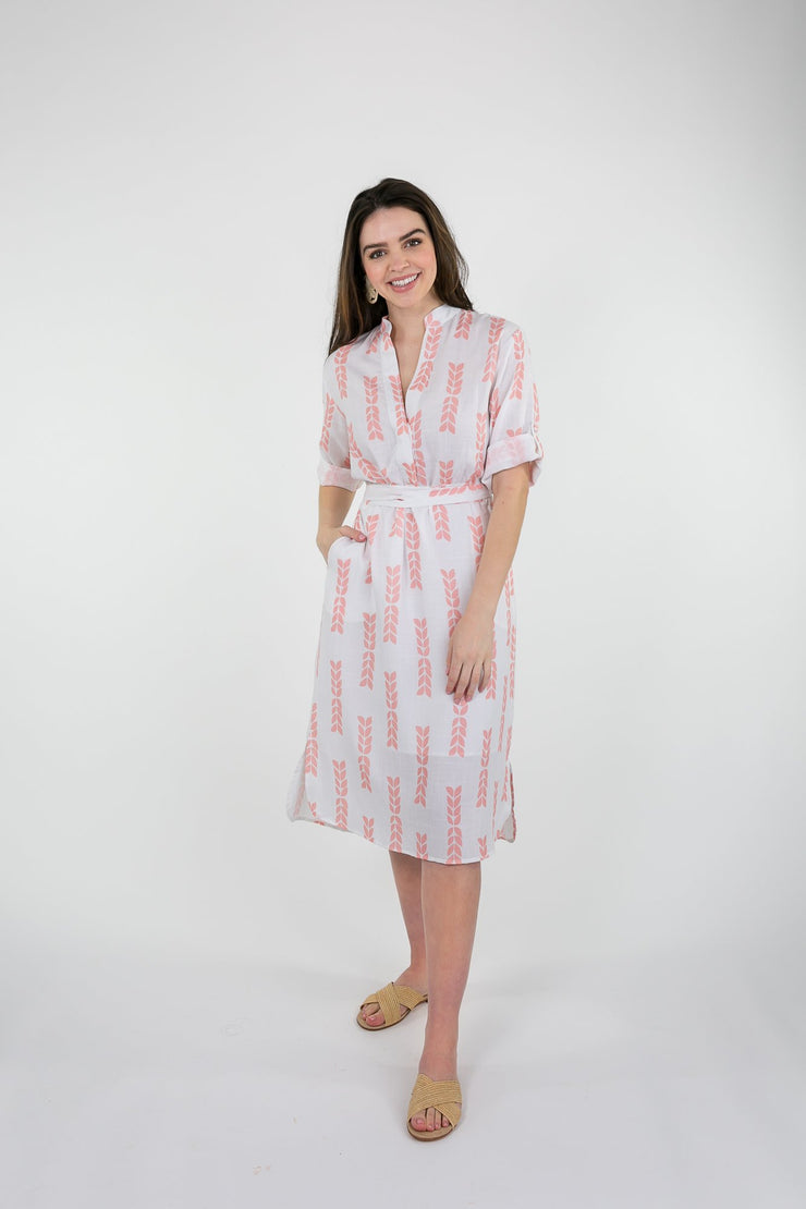 Beau & Ro Apparel The Every Dress | Pink + White Color Block