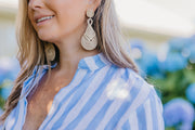 Beau & Ro Bag Company Earrings The Palm | Knot Earrings - Fuchsia