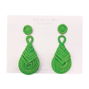 Beau & Ro Bag Company Earrings The Palm | Knot Earrings - Green