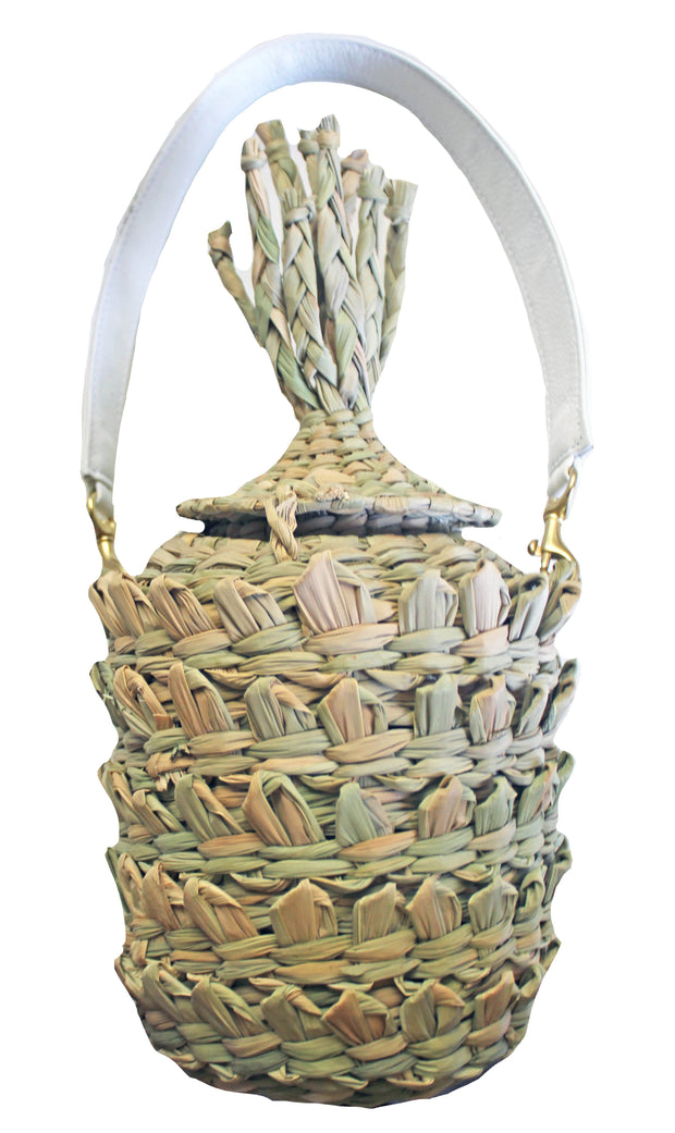 Beau & Ro Bag Company Pineapple Straw Bag
