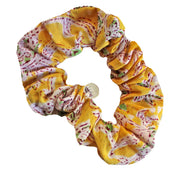 Beau & Ro Bag Company Scrunchie | Indian Block Print - Yellow