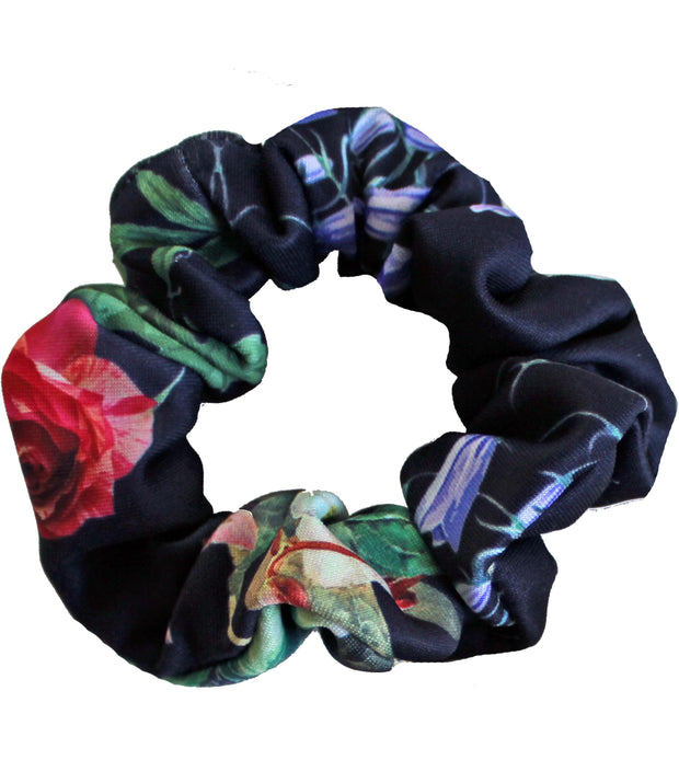 Beau & Ro Bag Company Scrunchie | Neoprene - Floral Black