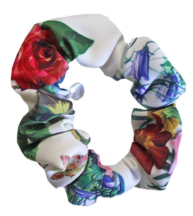 Beau & Ro Bag Company Scrunchie | Neoprene - Floral White