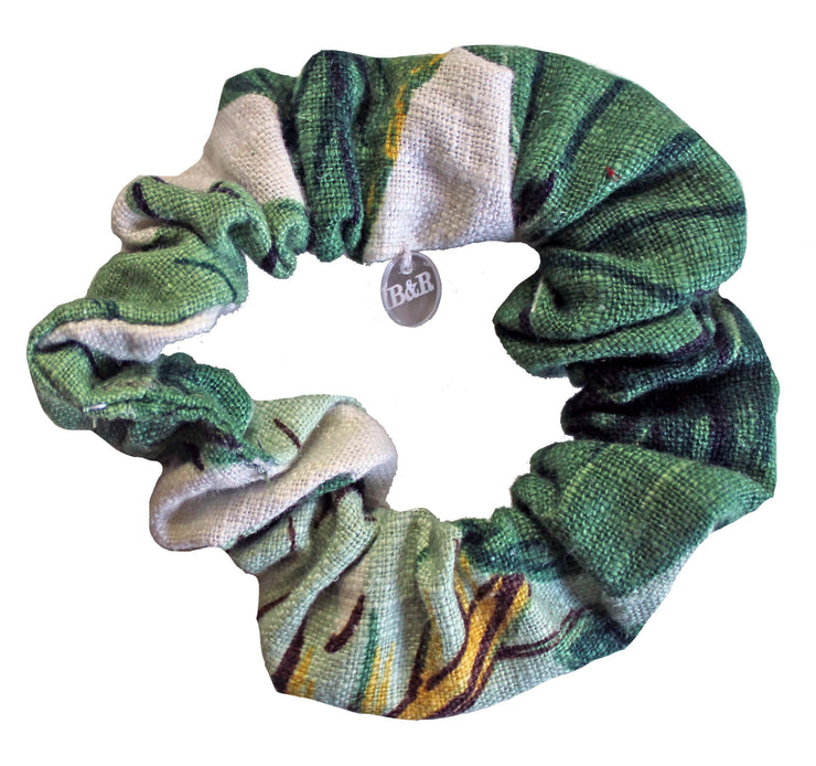Beau & Ro Bag Company Scrunchie | Palm Print