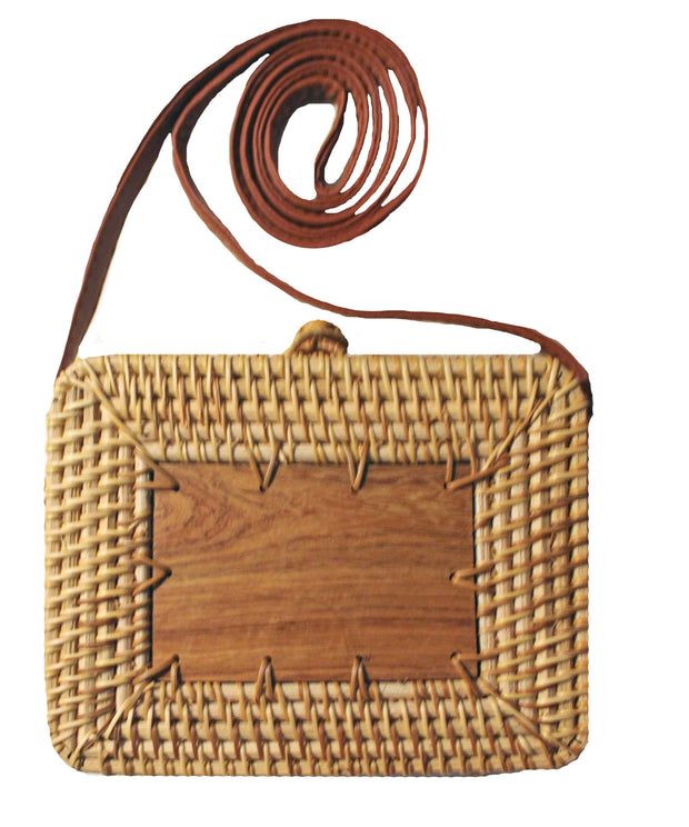 Beau & Ro Bag Company The Broad Street Woodie | Rattan