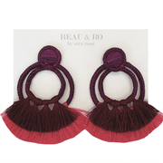 Beau & Ro Bag Company The Palm | Double Loop Earrings - Purple