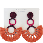 Beau & Ro Bag Company The Palm | Funky Snowman Earrings - Pink