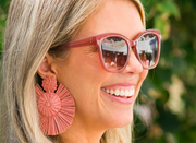 Beau & Ro Bag Company The Palm | Round Earrings - Orange