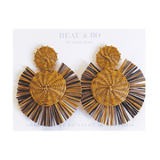 Beau & Ro Bag Company The Palm | Round Earrings - Rainbow Brown