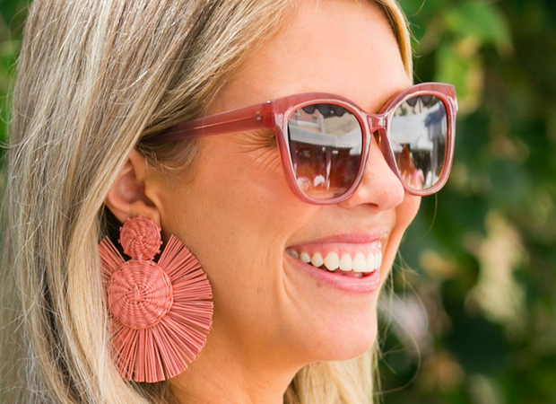 Beau & Ro Bag Company The Palm | Round Earrings - Tan