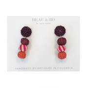 Beau & Ro Bag Company The Palm | Small Ball Earrings - Pink