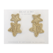Beau & Ro Bag Company The Palm | Star Earrings - Natural