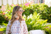 Beau & Ro Bag Company The Palm | Tassel Earrings - Natural