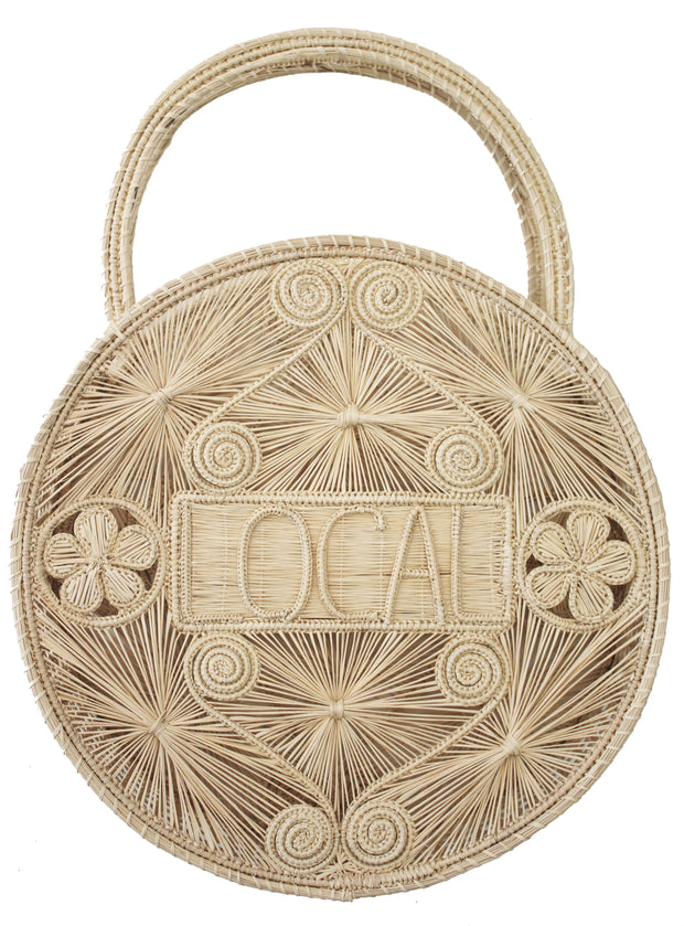 Beau & Ro Bag Company Woven Natural The Palm | Local - Natural Tote Bag