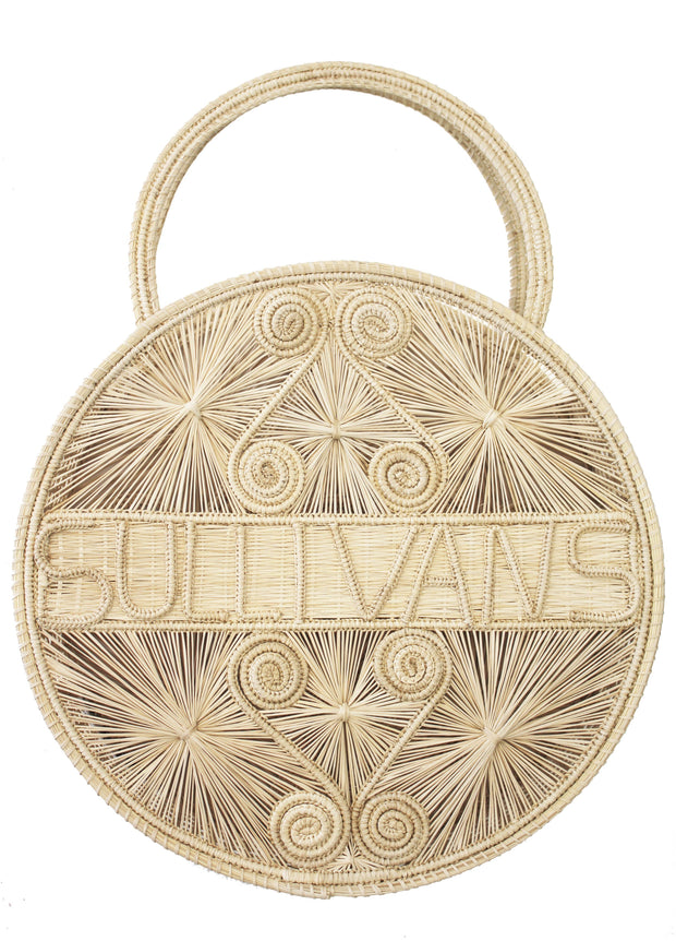 Beau & Ro Bag Company Woven Natural The Palm | Sullivans - Natural Tote Bag