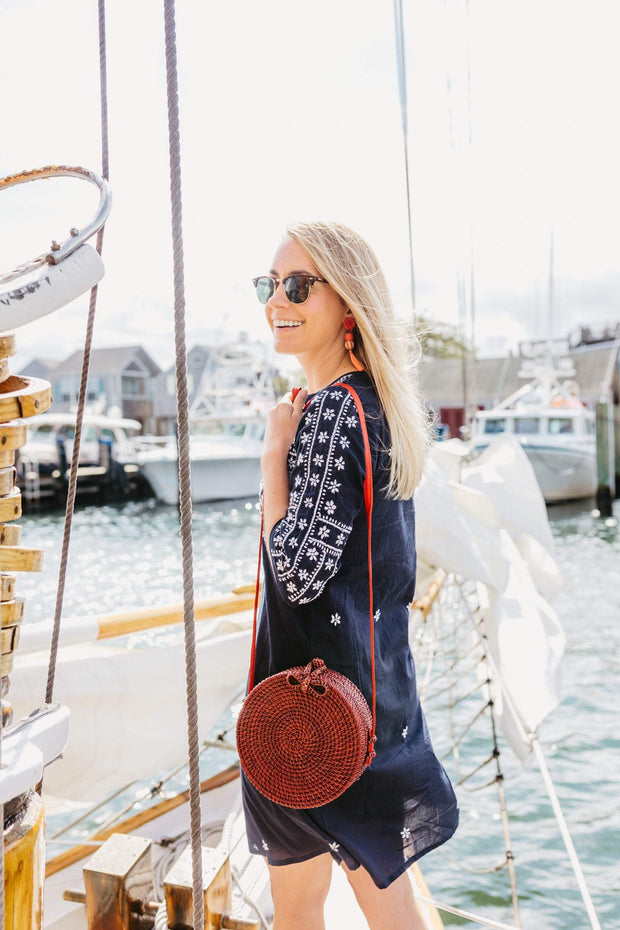 Beau & Ro Bag Company Woven Red The King Street | Rattan Bag - Red