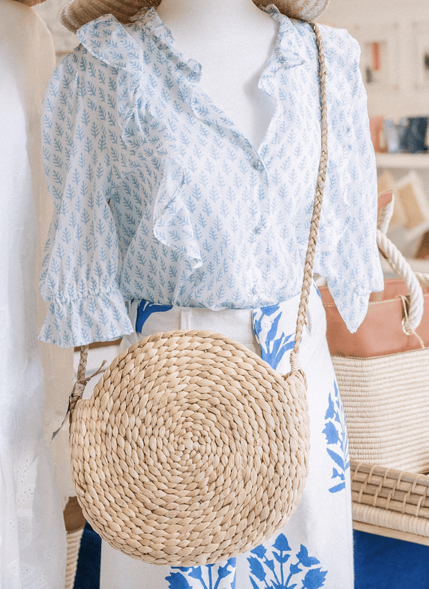 Beau & Ro Bag Company Woven The Ladies Beach | Straw Circular Bag