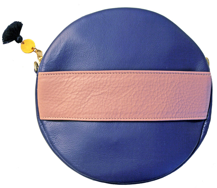 Beau & Ro Clutch + Crossbody blue The Moon Clutch + Crossbody Bag | Blue / Pink