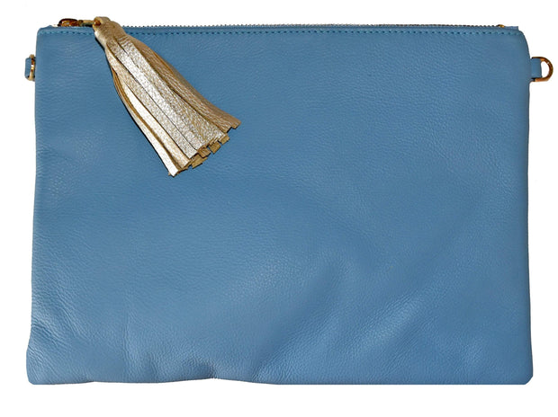 Beau & Ro Clutch + Crossbody Blue The Sconset Clutch + Crossbody Bag | New Blue