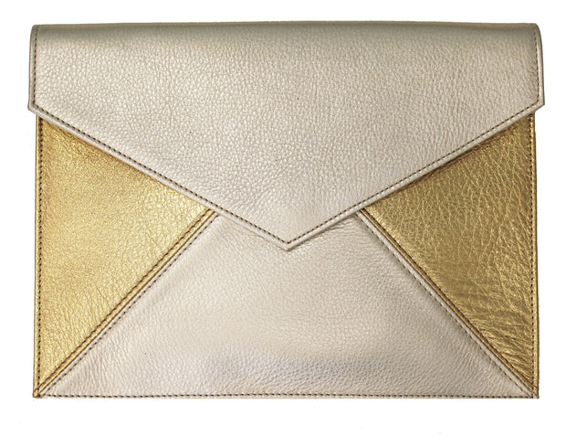 Beau & Ro Clutch + Crossbody Gold & Champagne The Envelope Clutch + Crossbody Bag | Gold & Champagne