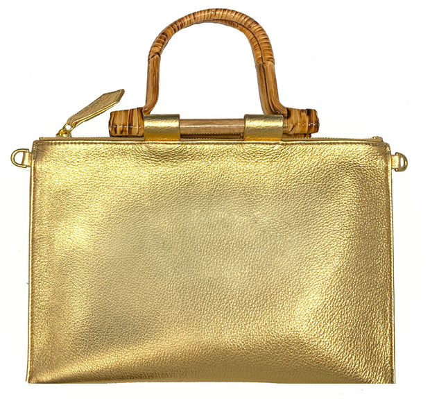 Beau & Ro Clutch + Crossbody Gold The Bamboo Clutch + Crossbody | Gold