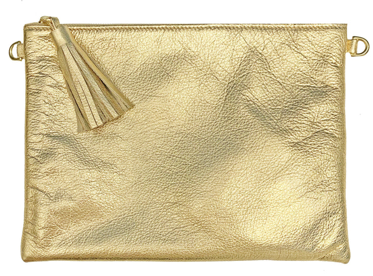 Beau & Ro Clutch + Crossbody Gold The Sconset Clutch + Crossbody | Gold