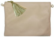 Beau & Ro Clutch + Crossbody Grey The Sconset Clutch + Crossbody Bag | Latte