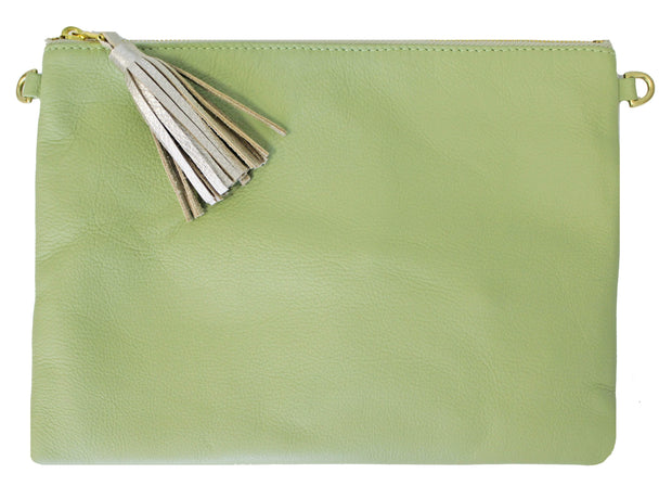 Beau & Ro Clutch + Crossbody Kiwi The Sconset Clutch + Crossbody Bag | Kiwi